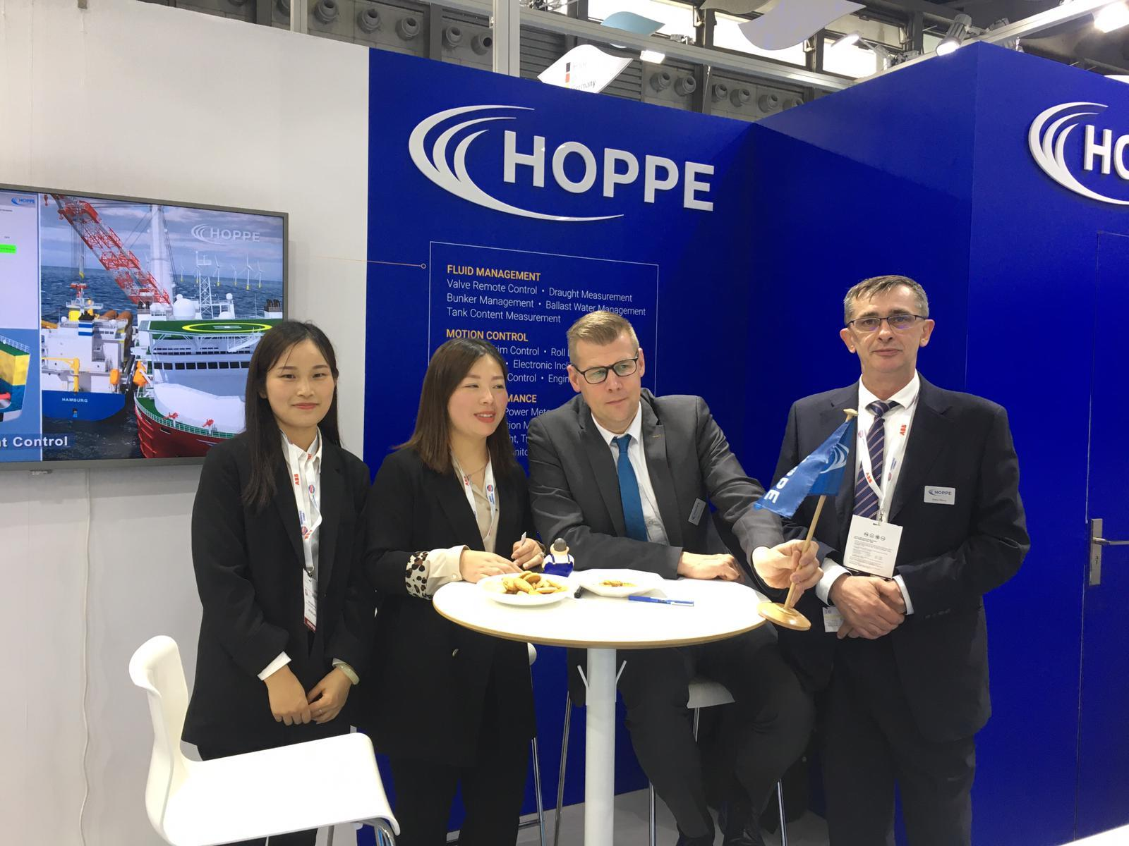 Hoppe at the Marintec 2019 in Shanghai